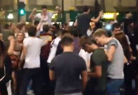 Newcastle brought to a standstill as students pay tribute to Kolo and Yaya Toure – video