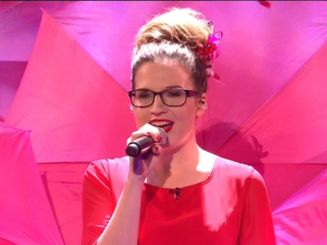 Back fall: Abi Alton was rushed to hospital after falling on stage after live show (Picture: ITV)