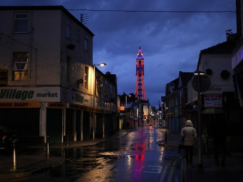 Blackpool: Man in serious condition after being blown into taxi's path during storm