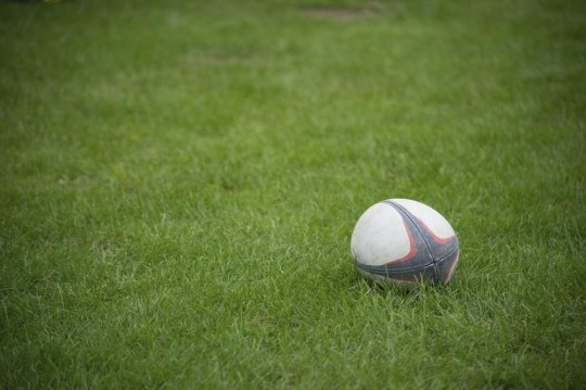 A rugby ball on a grass bazucha2/bazucha2