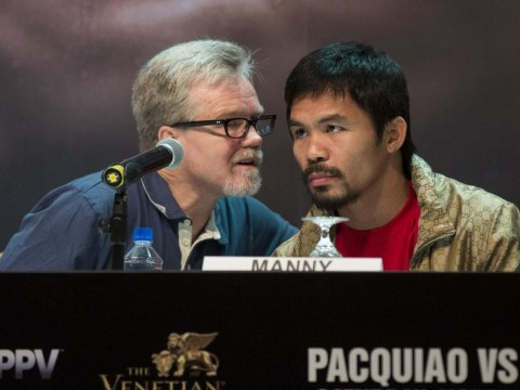 Manny Pacquiao's trainer Freddie Roach involved in a bust-up with his former assistant – video