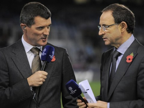 Republic of Ireland boss Martin O'Neill lets assistant Roy Keane know who's in charge