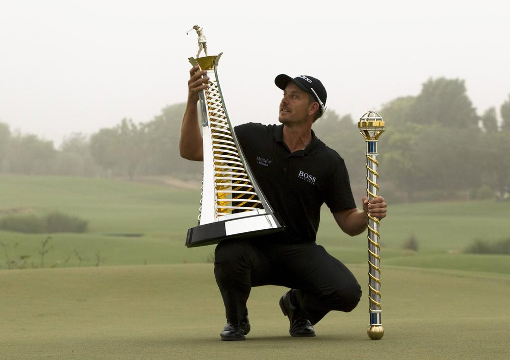Henrik Stenson seals historic double at DP World Tour Championship and wins Ian Poulter as a waiter in the process