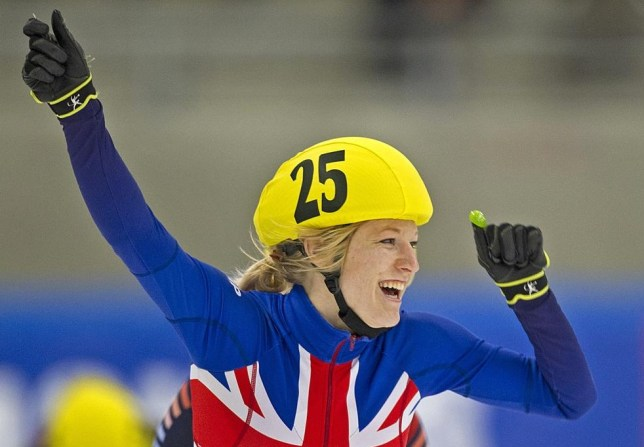 Elise Christie had an emotional weekend in Russia (Picture: AFP/Getty Images)