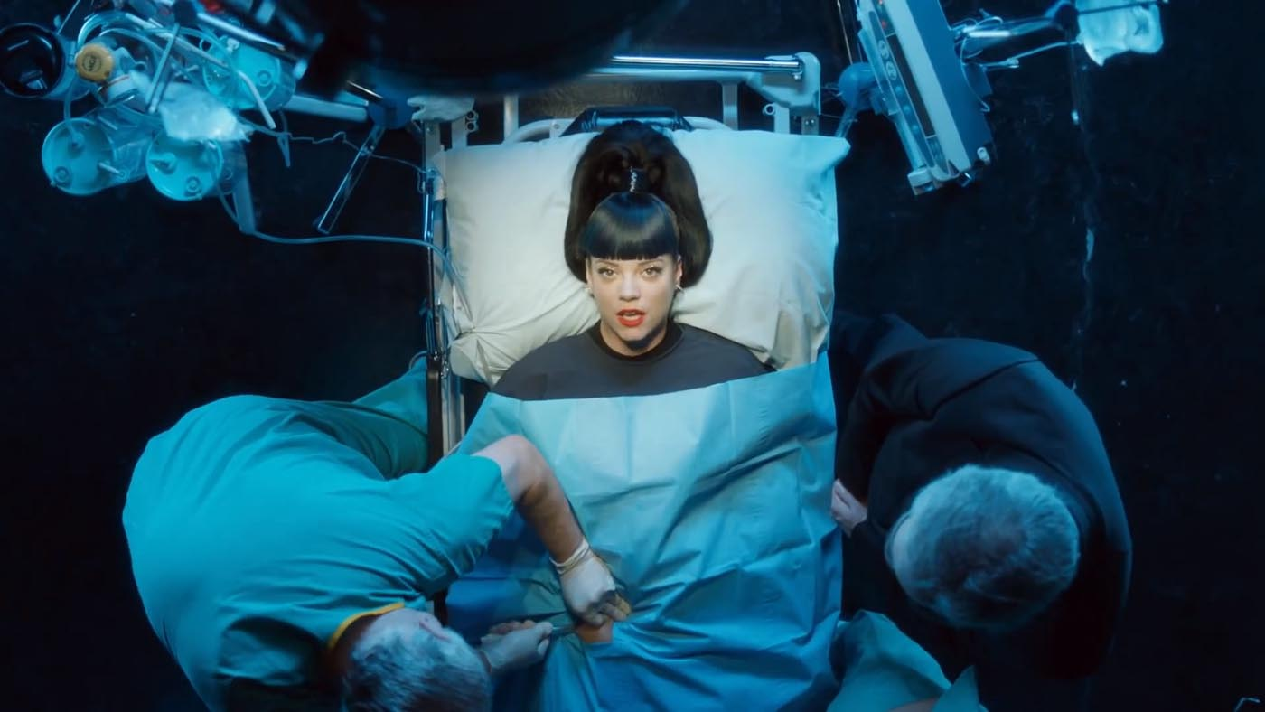 Lily Allen is back with a vengeance with two songs fighting it out for number one (Picture: Regal)