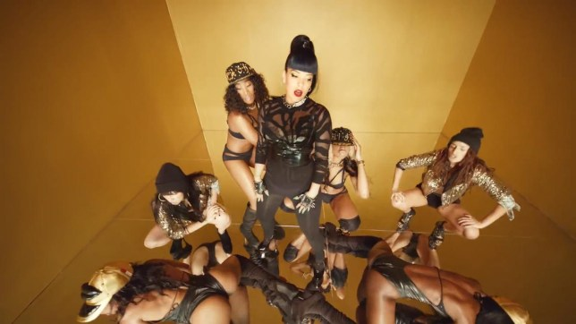Lily Allen has been criticised for surrounding herself with black female dancers in her new video (Picture: Regal)