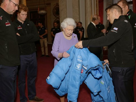 Gallery: Queen Elizabeth II meets Walking With The Wounded trekkers with Prince Harry