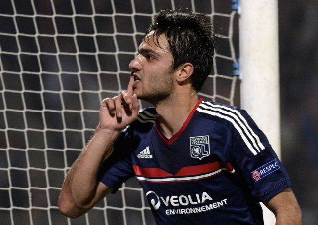 Lyon's French midfielder Clement Grenier reacts after scoring during the UEFA Europa League group I football match Olympique Lyonnais (OL) vs HNK Rijeka on October 24, 2013, at the Gerland Stadium in Lyon, central-eastern France.        AFP PHOTO/PHILIPPE DESMAZESPHILIPPE DESMAZES/AFP/Getty Images