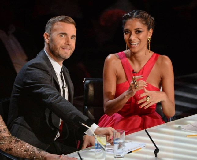 Gary Barlow and Nicole Scherzinger on The X Factor 2013