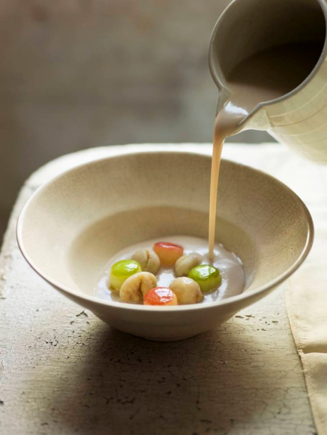 Chestnut and apple soup (Picture: Cristian Barnett)