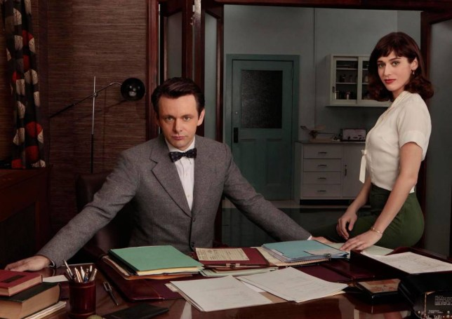 Michael Sheen as Dr William Masters and Lizzy Caplan as Virginia Johnson in Masters Of Sex (Picture: Erwin Olaf/Showtime)