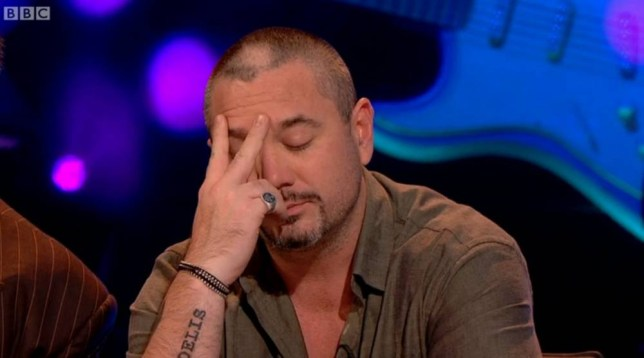 {FUN LOVIN' CRIMINALS} star {HUEY MORGAN} stunned fans of BBC quiz show {NEVER MIND THE BUZZCOCKS} on Monday night (04Nov13) after complaining about song lyrics questions he was asked to complete by guest hosts.