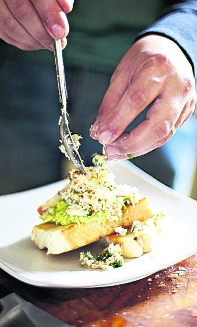 Movember spiced crab and avocado on toast from head chef David Johnson (Picture: Steve Ryan)