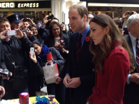 Kate Middleton and Prince William stun commuters at High Street Kensington Tube station with poppy appeal appearance
