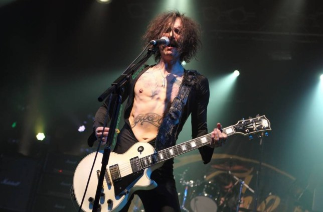 LONDON, UNITED KINGDOM - NOVEMBER 12: Justin Hawkins of The Darkness performs on stage at Electric Ballroom on November 12, 2013 in London, United Kingdom. (Photo by Burak Cingi/Redferns via Getty Images)