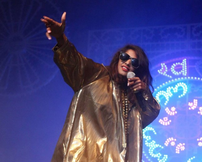 M.I.A. performing in in New York City on November 1, 2013 . (Picture: Getty)