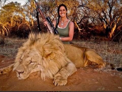 TV presenter sparks anger after posting picture of lion she shot 'dead' on Twitter