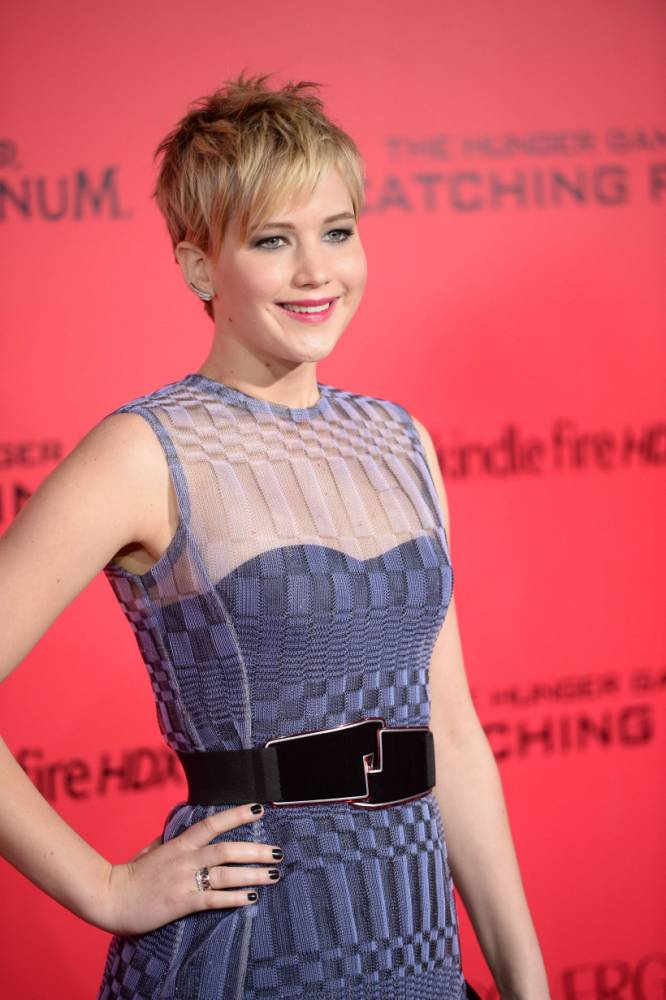 Jennifer Lawrence at the LA Hunger Games premiere (Picture: Getty))