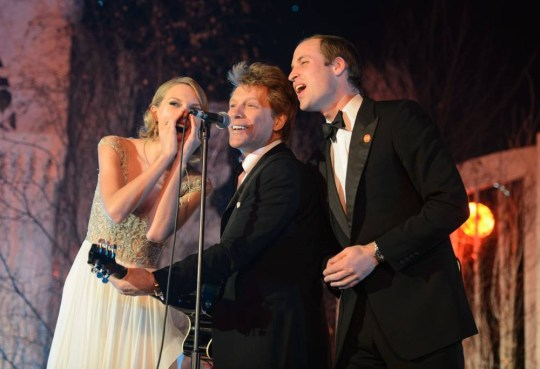 Fresh Prince: William sings Livin' on a Prayer with Bon Jovi and Taylor Swift