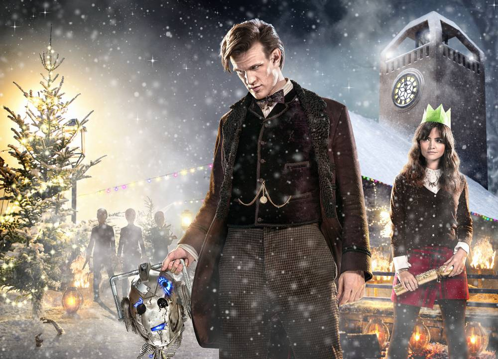 Programme Name: Doctor Who - TX: 25/12/2013 - Episode: n/a (No. n/a) - Embargoed for publication until: 26/11/2013 - Picture Shows: THIS IMAGE IS UNDER STRICT EMBARGO OF 26th NOVEMBER 2013 00.01 The Doctor (MATT SMITH), Clara (JENNA COLEMAN) - (C) BBC - Photographer: Ray Burmiston