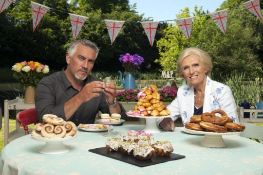 Paul Hollywood and Mary Berry  ...  Great British Bake Off  (C) Love Productions - Photographer: Des Willie