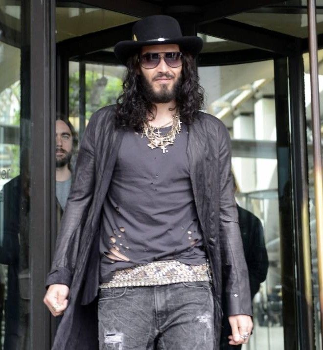 Russell Brand still denies bedding Lauren Harries: 'Her claims are as fraudulent as her evaluation of Ming vases on Wogan'