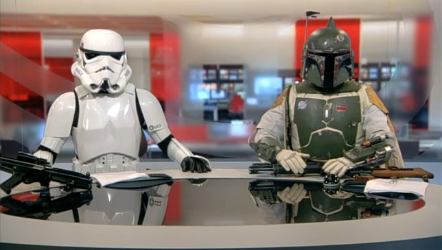 BBC Newsreaders as Star Wars characters