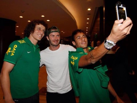 David Beckham still got it as Neymar and David Luiz clamour for picture with England star