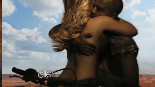Kim Kardashian naked in Kanye West video