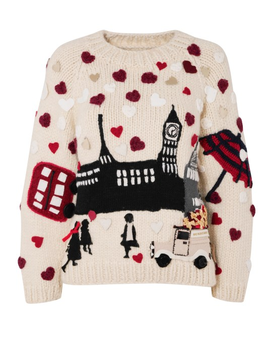 Burberry design for Christmas Jumper Day (Picture: Save the Children)
