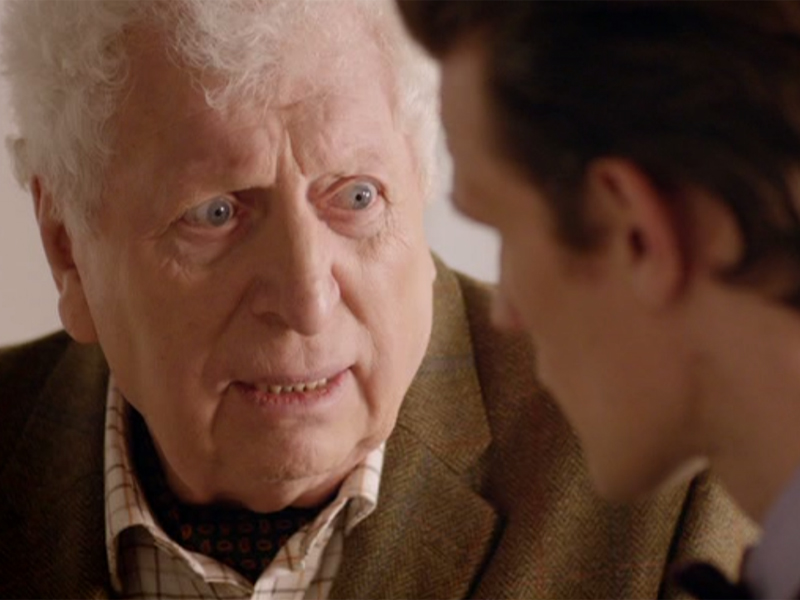 Tom Baker makes surprise appearance in The Day Of The Doctor as mild-mannered gallery curator