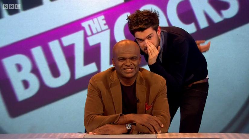 Jack Whitehall and Kriss Akabusi took over Never Mind The Buzzcocks (Picture: iPlayer/BBC)