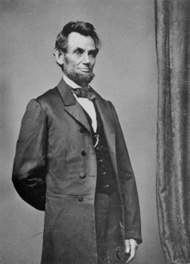 President Abraham Lincoln poses for a portrait in this undated file photo.  Lincoln has been labeled the nation's greatest president by the American people, according to a recent poll. (AP Photo/Mathew Brady)
