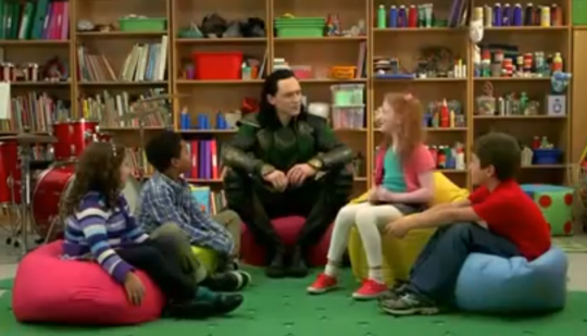Loki shows why he's not to be trusted around kids (Picture: YouTube)