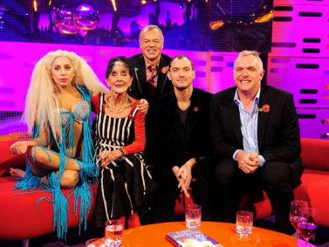 Lady Gaga gets cosy with EastEnders veteran June Brown on Graham Norton's sofa