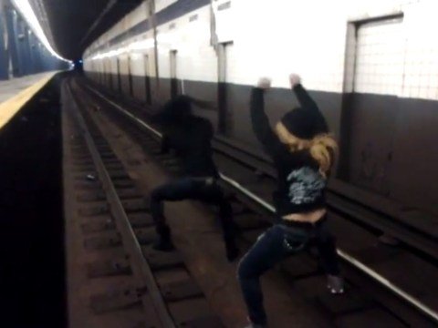 Video: Police investigate clip of two women twerking on subway tracks