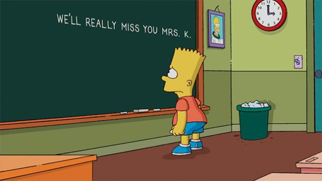 Simpsons' Marcia Wallace tribute