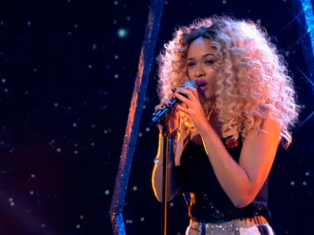 Still singing: Tamera Foster has hit back at haters after being in the bottom two on The X Factor (Picture: ITV)