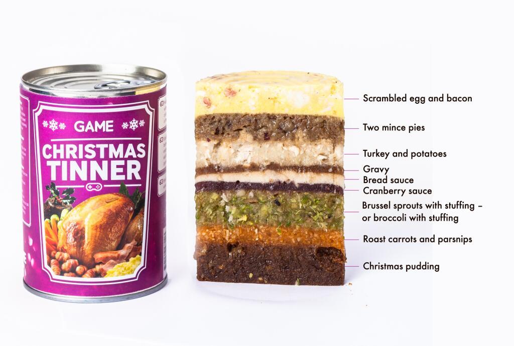 Game's Christmas Tinner, because sometimes your life isn't sad enough. Photo: Game
