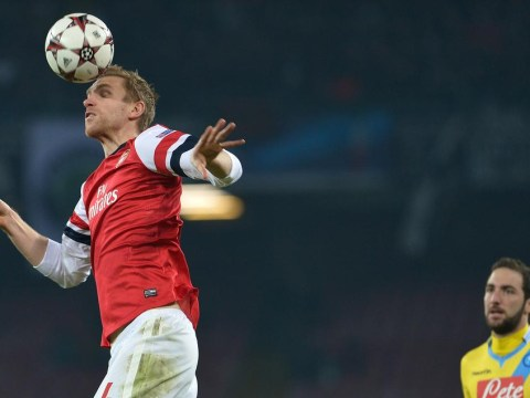 Per Mertesacker: Arsenal not scared of facing Barcelona, Real Madrid and Bayern Munich in Champions League knockout stages