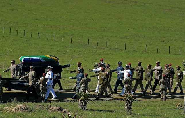 A nation mourns: Nelson Mandela's funeral takes place in Qunu
