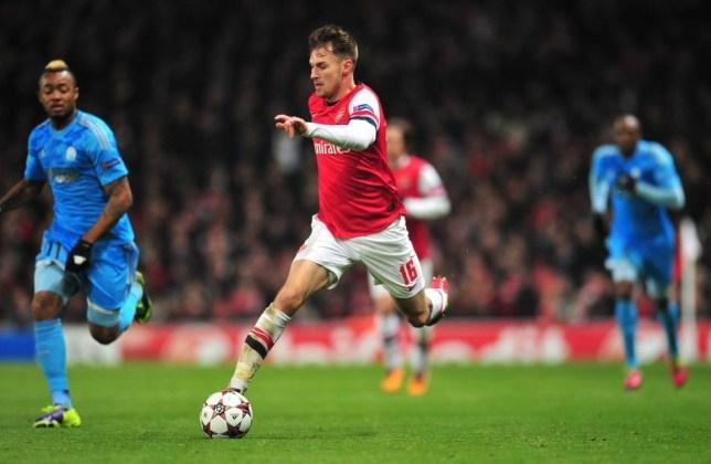 Arsenal's Welsh midfielder Aaron Ramsey GLYN KIRK/AFP/Getty Images