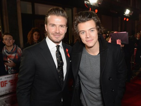 Here's that picture of David Beckham with Harry Styles you wanted