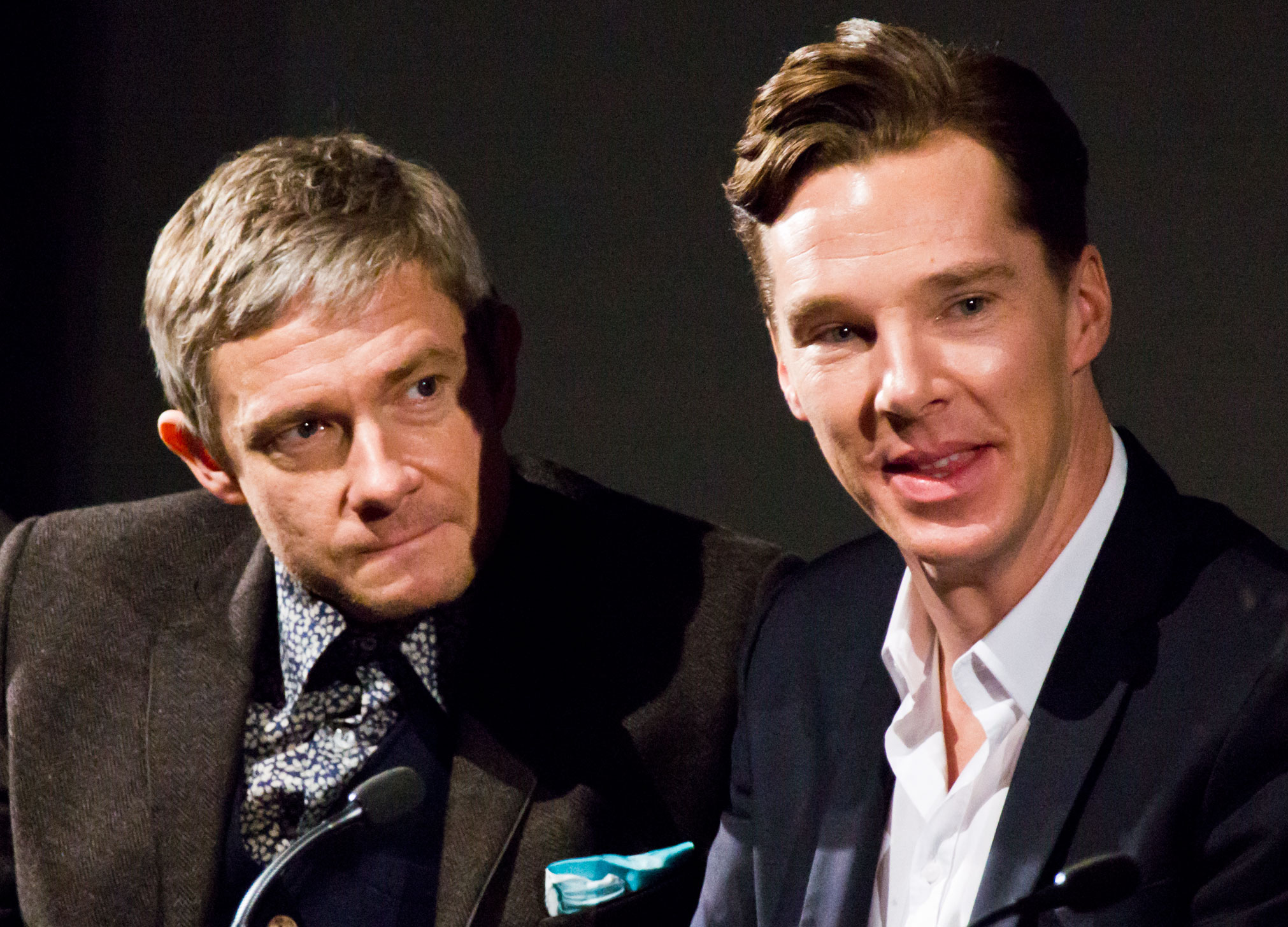 Sherlock Holmes and Smaug the Dragon, John Watson and Bilbo Baggins: Benedict Cumberbatch and Martin Freeman shine in both roles