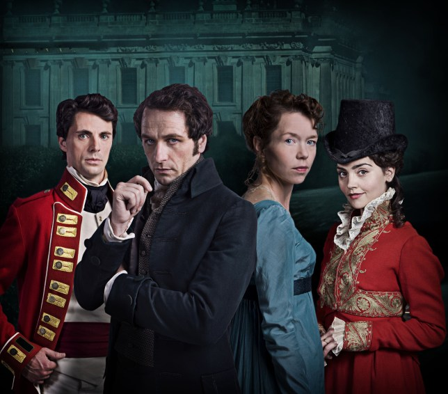 Death Comes to Pemberley: Will Wickham (left) be found guilty of killing Denny