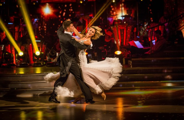 Strictly Come Dancing 2013: Abbey and Aljaz's Viennese Waltz was praised by the judges (Picture: BBC)