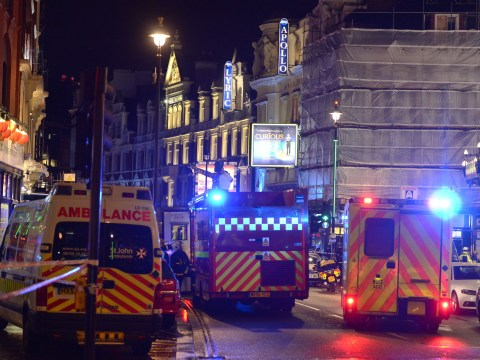 Dozens injured after 'ceiling collapse' at Apollo theatre