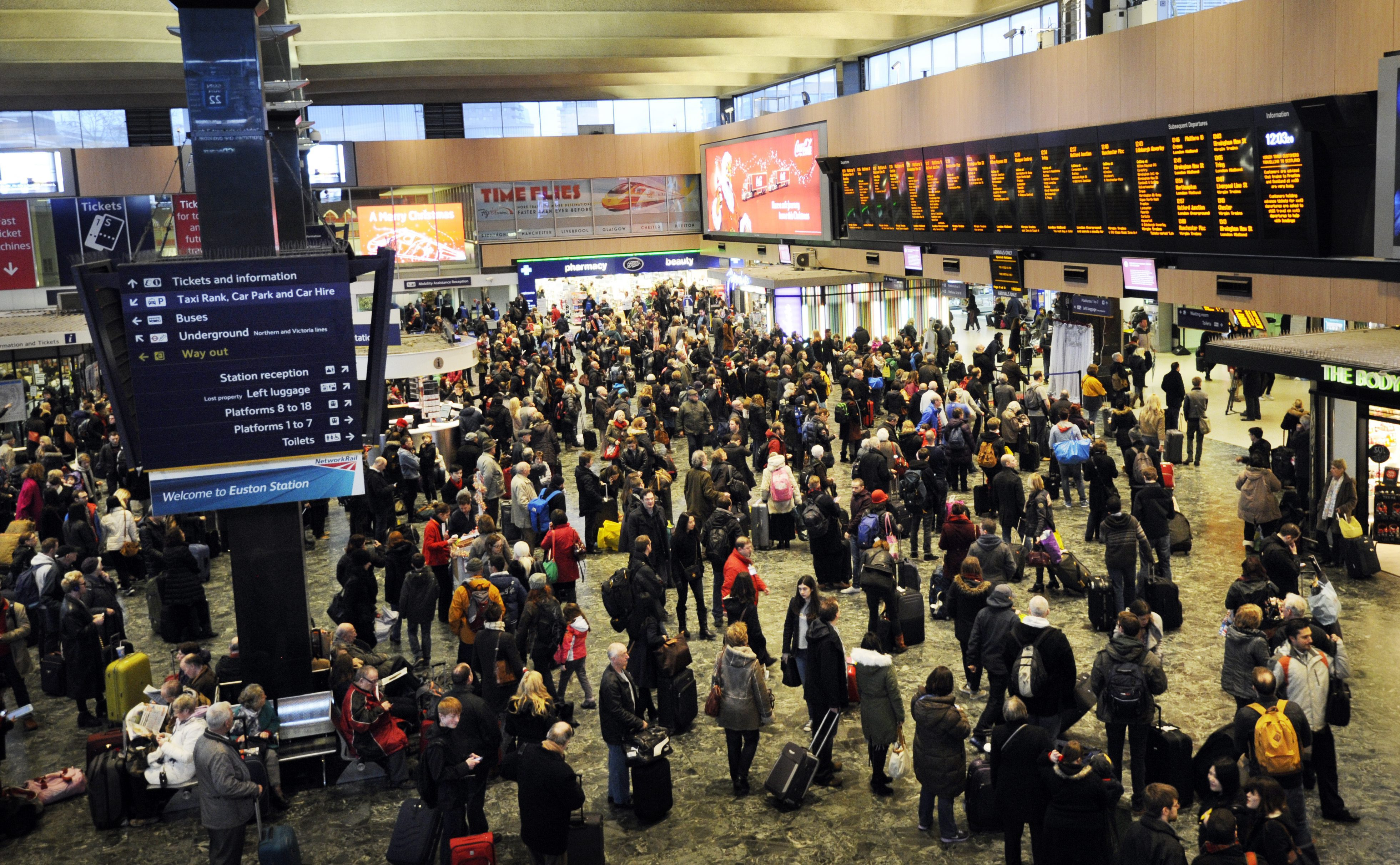 There have been travel disruptions all over the country (Picture: EPA)