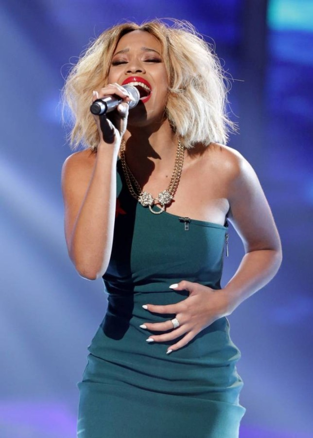 **EMBARGO - NOT FOR PUBLICATION BEFORE 20:00hrs 01 DEC 2013** EDITORIAL USE ONLY - NO MERCHANDISING - NO BOOK PUBLISHING  Mandatory Credit: Photo by Tom Dymond/Thames/REX (3397277bq)  Tamera Foster  'The X Factor' TV show, London, Britain - 01 Dec 2013