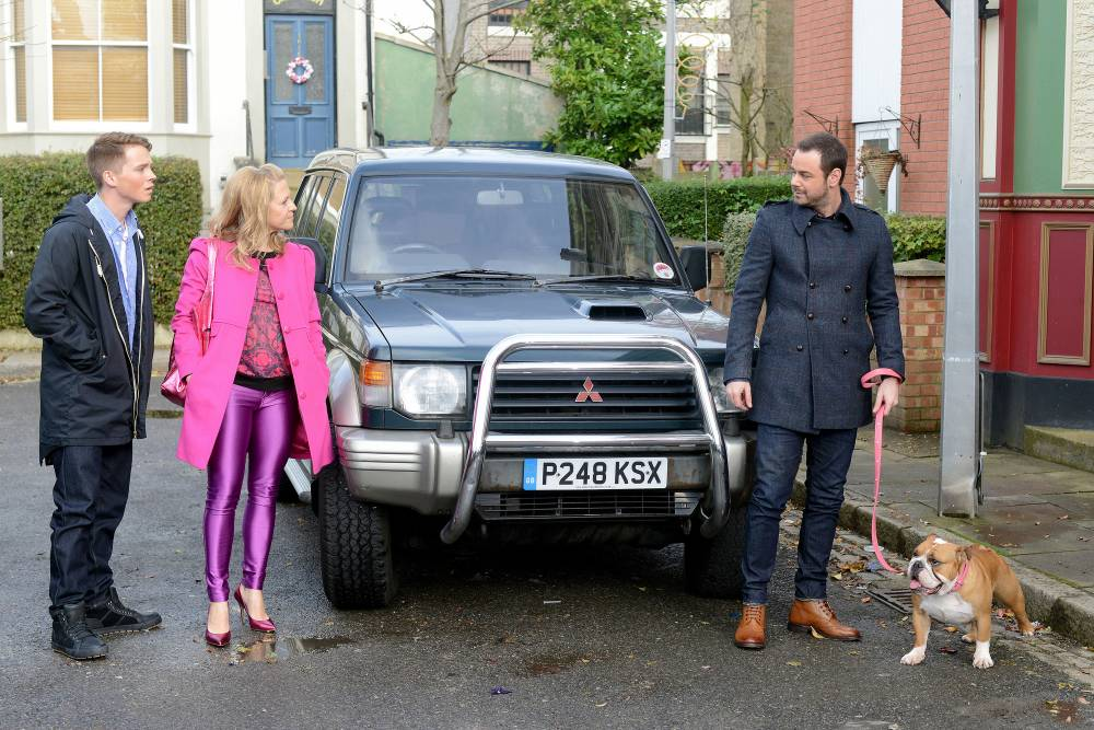 Danny Dyer's bulldog gets the thumbs up as Mick Carter officially introduced on EastEnders